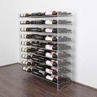 4' Evolution System 81 Bottle Wine Display - Satin Black Finish