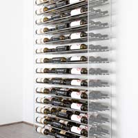 6' Evolution System 126 Bottle Wine Display - Satin Black Finish