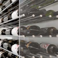 8' Evolution Extension System 162 Bottle Wine Display - Satin Black Finish