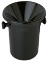 Wine Tasting Black Receptacle (Spittoon) with Lid