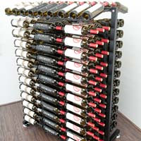 234 Bottle Island Display Wine Rack - Satin Black Finish