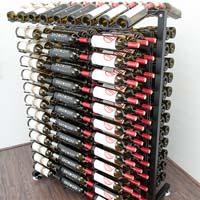 234 Bottle Island Display Wine Rack - Satin Black Finish