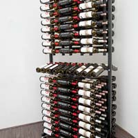 288 Bottle Island Display Wine Rack - Satin Black Finish