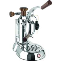 Stradivari Espresso Maker - Wood & Chrome