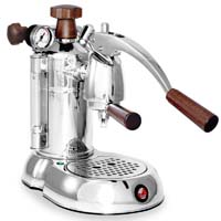 Stradivari Professional Espresso Maker - Wood & Chrome