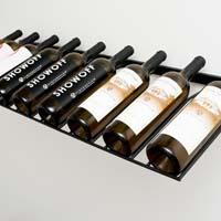 9 Bottle Presentation Rack - Black Satin Finish