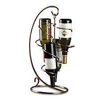 Table Tendril 4-Bottle Wine Rack - Copper