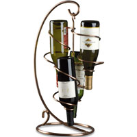 LAST ONE!  Table Tendril 4-Bottle Wine Rack - Copper