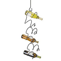 Climbing Tendril Wine Rack - Black
