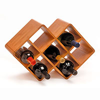 Bamboo 8-Bottle Wine Rack