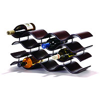 Bali Countertop Wine Rack - Ebony