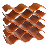 Bali 15 Bottle Countertop Wine Rack - Spiced Pumpkin
