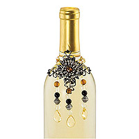 Jeweled Flower Wine Bottle Jewelry