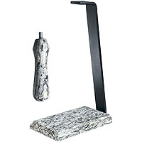 White Wave Granite Table Stand & Handle Set