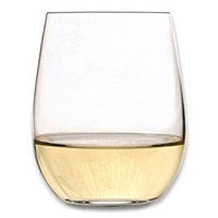 O Chardonnay / Viognier Stemless Wine Glasses (Set of 2)