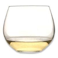 O Chardonnay / White Burgundy Stemless Wine Glasses (Set of 2)