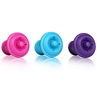 Wine Saver Extra Stoppers (Set of 3) - Pink/Purple/Blue
