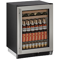 Scratch & Dent - U-Line 1024BEVS-00B 6.0 cf Beverage Center - Field Reversible