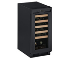 U-Line Origins 1115WCB-00 Wine Captain 24 Bottle Wine Refrigerator in Black