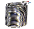 Jockey Box Stainless Steel Cooling Coil, Left Hand, 120' x 3/8