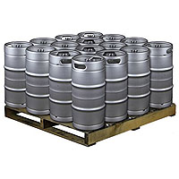 Pallet of 16 Kegs -  7.75 Gallon Commercial Keg with Threaded D System Sankey Valve