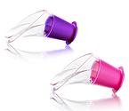 Vacu Vin Crystal Wine Server (Set of 2) - Pink/Purple
