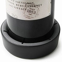 Black Wine Bottle Coaster