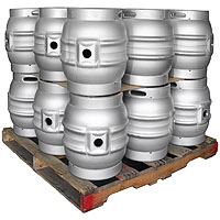 Pallet of 18 Brand New 10.8 Gallon Firkin Beer Keg Casks