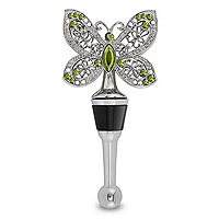 Garden Jeweled Butterfly Wine Bottle Stopper