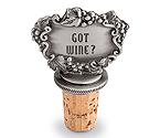 Got Wine? Pewter Bottle Stopper