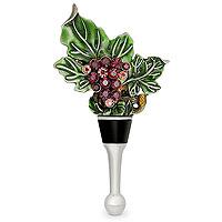 Enamel Grapevine Wine Bottle Stopper