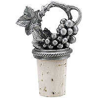 Pewter Grapevine Wine Bottle Stopper