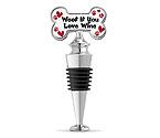 Woof If You Love Wine Enamel Bottle Stopper