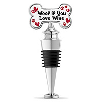 Woof If You Love Wine Enamel Bottle Stopper