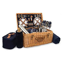 Windsor English Style Suitcase Picnic Basket for Four