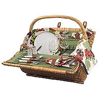 Barrel Picnic Basket for 2