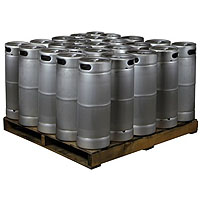 Pallet of 25 Kegs - 5 Gallon Commercial Keg with Micromatic Drop-In D System Sankey Valve