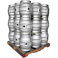 Pallet of 27 Brand New 10.8 Gallon Firkin Cask Beer Kegs