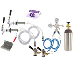 Kegco Deluxe Two Keg Door Mount Kegerator Conversion Kit