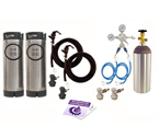 Kegco Two Keg Homebrew Party Kegerator Kit - Ball Lock