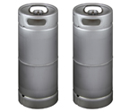 Two Kegco brand new 5 Gallon Commercial Kegs - Drop-In D System Valve
