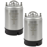 2.5 Gallon Ball Lock Kegs - Strap Handle - NSF Approved - Set of 2