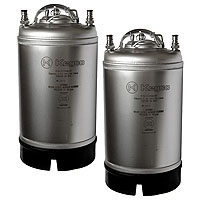 Coffee Kegs - Ball Lock 3 Gallon Strap Handle - Brand New - Set of 2