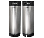 Kegco 5 Gallon Ball Lock Keg - RubberHandle - Set of 2