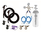 Kegco Two Faucet Homebrew Party Kegerator Kit - Ball Lock