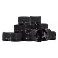 Black Plastic Bottling Caps