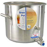 32 Qt. Stainless Steel Brew Pot