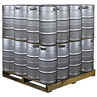 Pallet of 32 Kegs -  7.75 Gallon Commercial Keg with Drop-In D System Sankey Valve