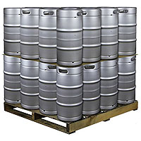 Pallet of 32 Kegs -  7.75 Gallon Commercial Keg with Threaded D System Sankey Valve