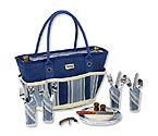 Picnic at Ascot Aegean Picnic Basket Cooler Tote for 4